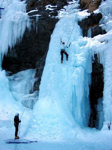 Cascade de glace Guide des 2 Vallées - © Guide des 2 Vallées