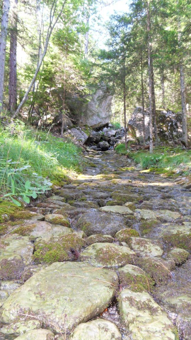 Ruisseau pavé à Cordéac