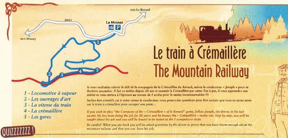 """Visuel Randonnée 'le train de la Crémaillère"""""""