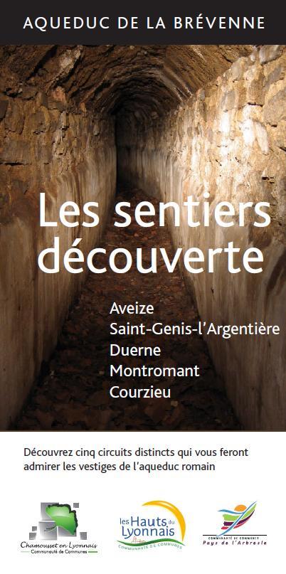Couverture dépliant sentier découverte Aqueduc Brévenne