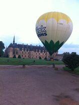 Château de La Palice Départ en montgolfière Ⓒ J. De Chabannes