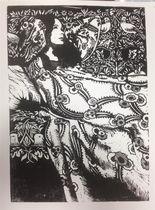 Peinture, dessin, gravure : Céline Excoffon Linogravure Ⓒ Céline Excoffon