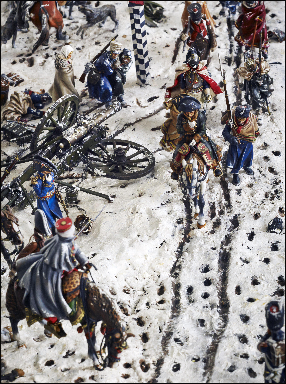 Figurines historiques d'art Reconstitution champ de bataille - Napoléon Ⓒ D2V Roanne - 2018