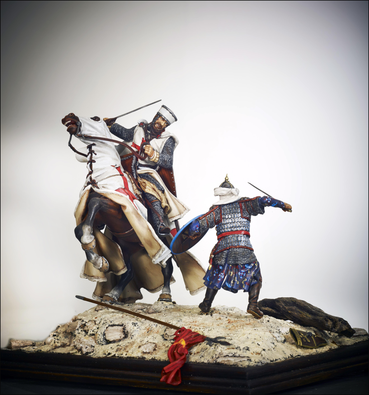 Figurines historiques d'art Templier Ⓒ D2V Roanne - 2018