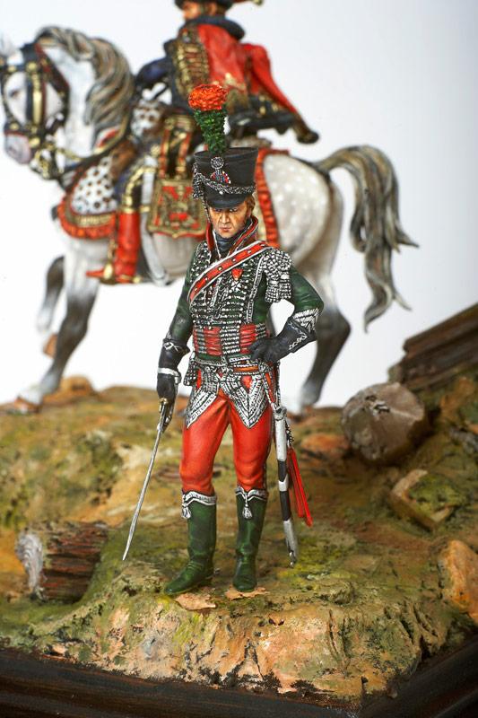 Figurines historiques d'art Chasseur à cheval Ⓒ Jérôme AUBANEL - 2016