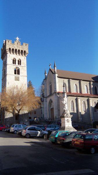 Eglise Saint Georges et la Tour Carrée