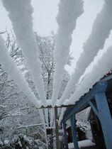 La neige au gîte de l'OVALIE ... le printemps va arriver !!!! Ⓒ Gîtes de France