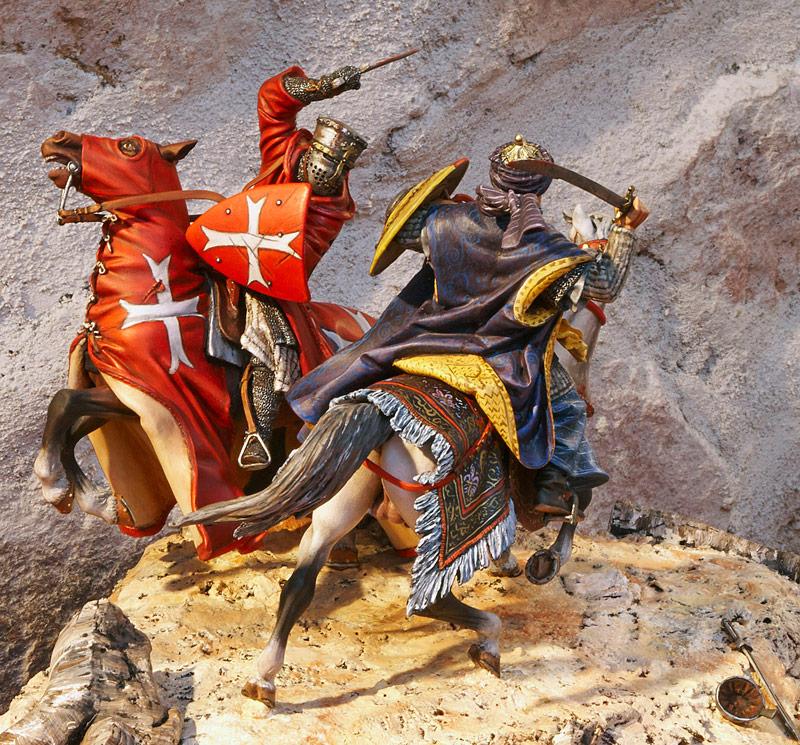 Figurines historiques d'art Combat en terre sainte Ⓒ Jérôme AUBANEL - 2016