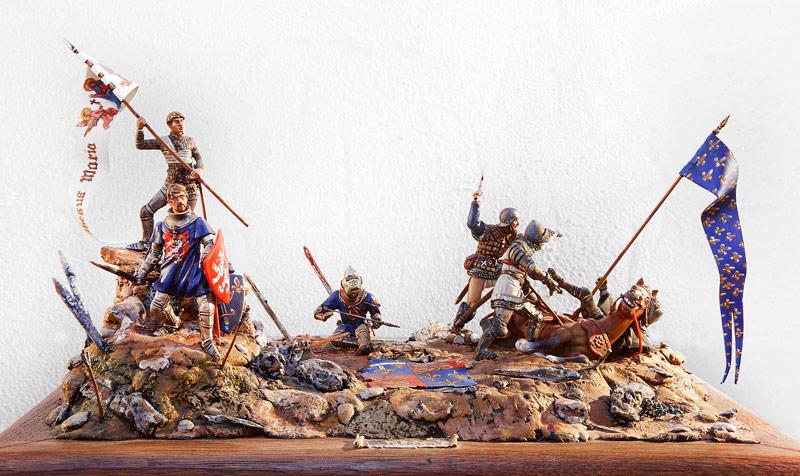 Figurines historiques d'art Jeanne d'Arc et Jacques de Chabannes à Orléans Ⓒ Jérôme AUBANEL - 2016