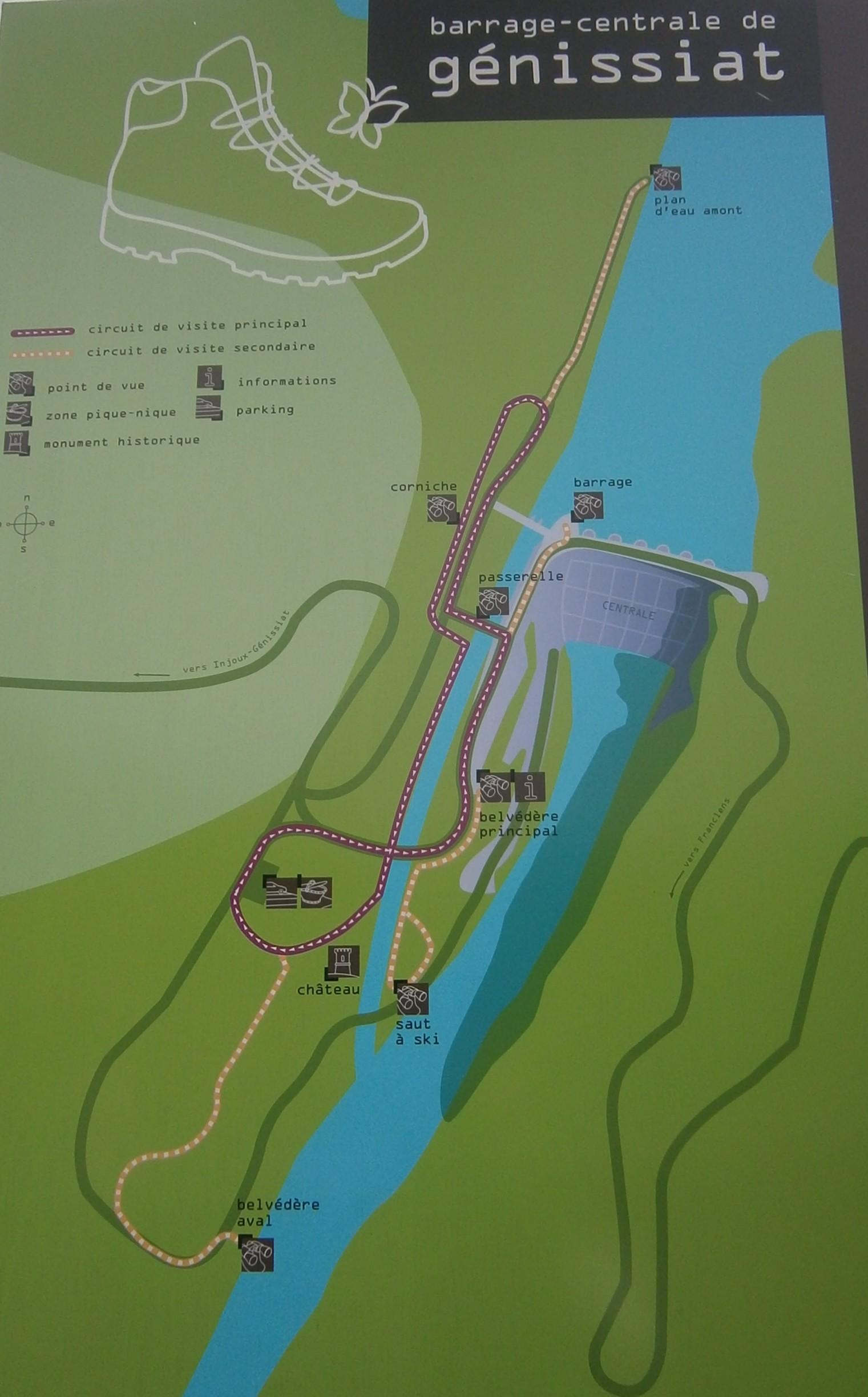 Circuit découverte du barrage
