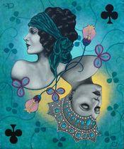 Peinture, dessin, gravure : Céline Excoffon Acrylique sur toile Ⓒ Céline Excoffon