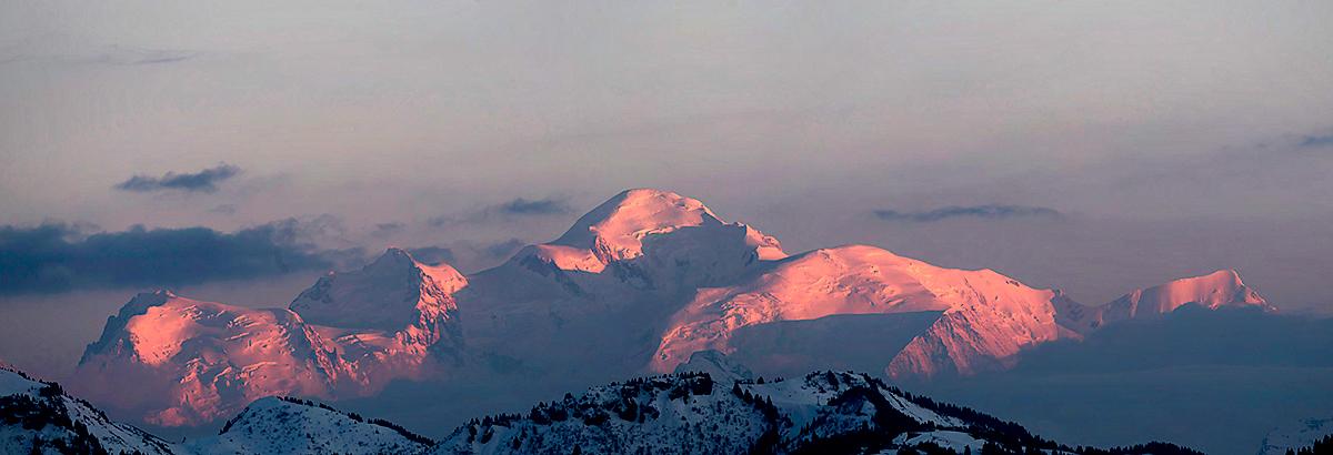 Le Mont-Blanc vu depuis le sentier