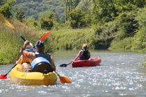 Kanu/kayak : Abstieg auf dem Rhône - la cano'E VTT