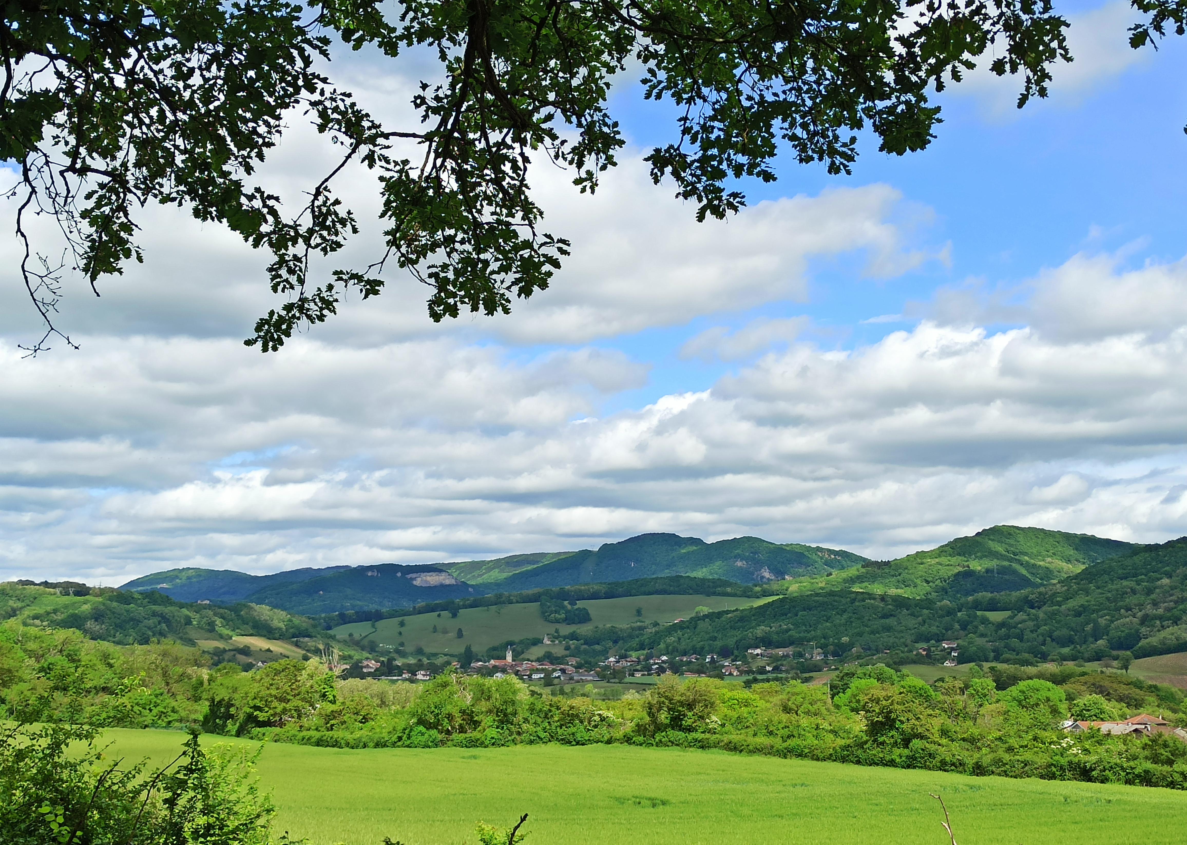 vue sur Vaux en Bugey depuis Lagnieu