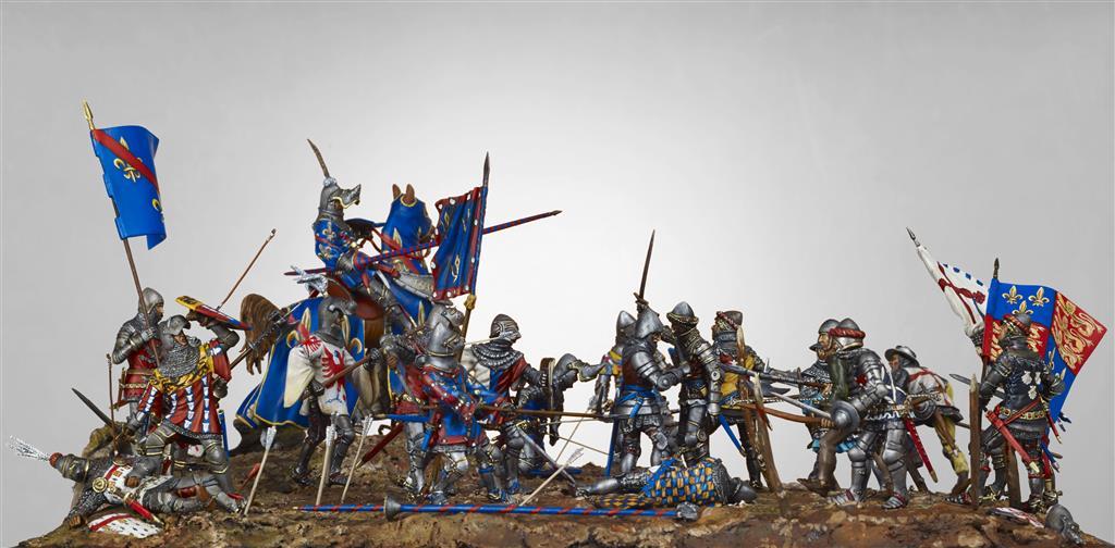 Figurines historiques d'art Bataille d'Azincourt 2 Ⓒ Jérôme Aubanel - 2017