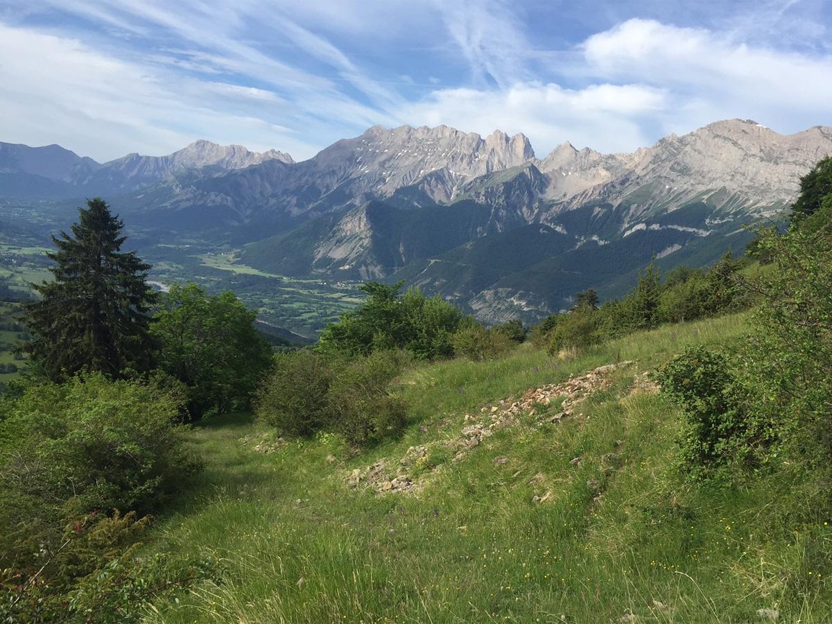 Itinéraire de randonnée jusqu'aux Sambucs, vallée du Valgaudemar