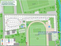 Camping Les bords de Besbre Plan du camping Ⓒ Site internet mairie - 2020