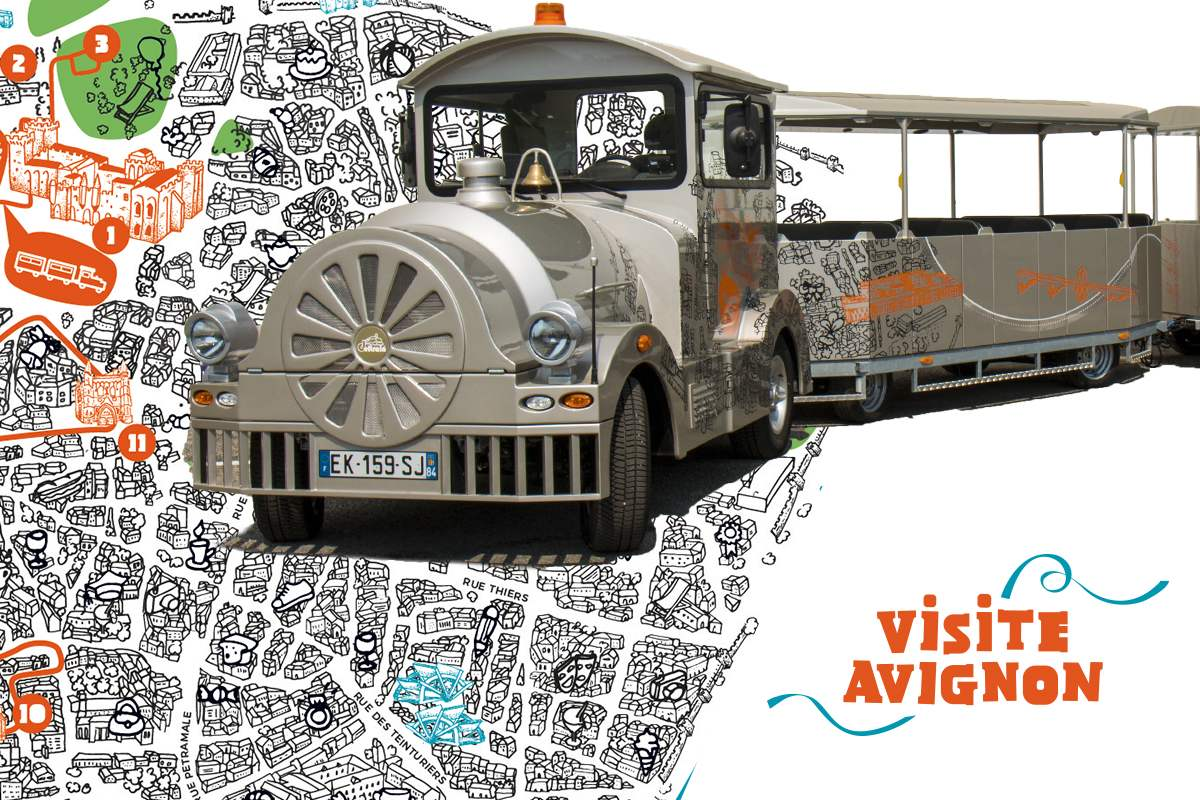 Le Petit Train Touristique d'Avignon - Visite Avignon Lieutaud