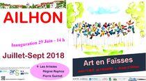 Exposition en extérieur : Art en Faïsses - Ailhon