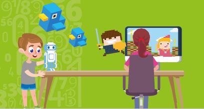 """Codage numérique : atelier en visioconférence """"mini"""" -  9 à 10 ans"""