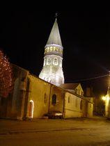 Église Saint-Martin Extérieur de nuit Ⓒ Mairie - 2014