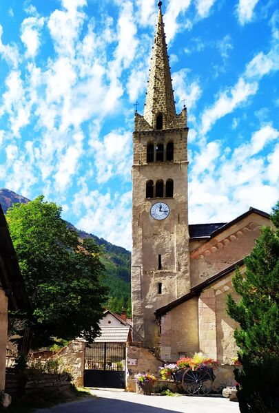 Eglise Saint-Marcellin de Névache - Clarée - © ©FGuffroy