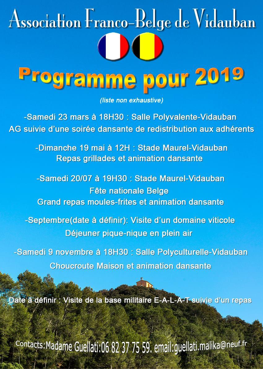 L'Association Franco-Belge - Repas Grillades et Animation Dansante