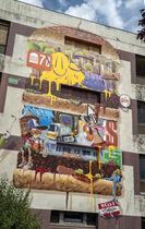 BURGER_ZESO Ⓒ Street art city à Lurcy-Lévis