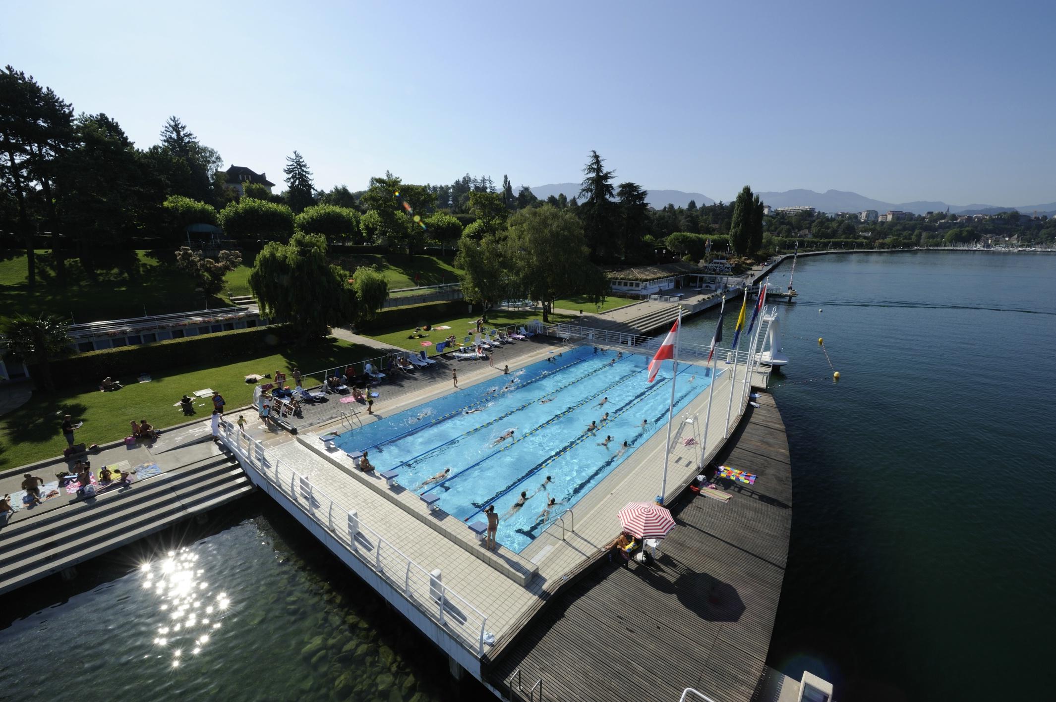 Der Städtische Strand Bis Thonon Les Bains   , Schwimmbad, Strand/Schwimmen