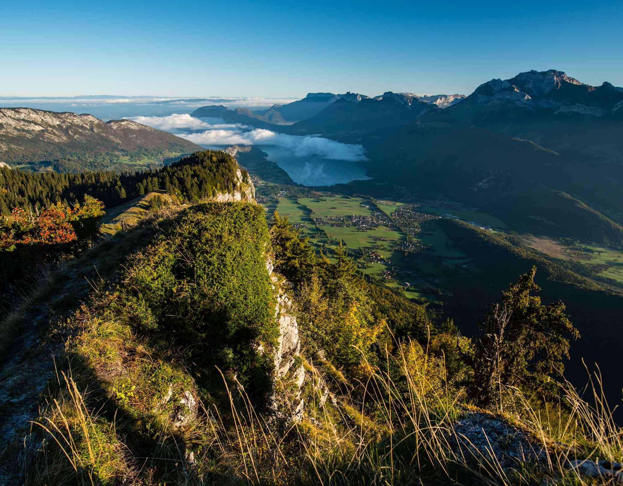 Vue magnifique depuis la montagne du Charbon
