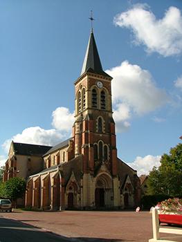 Église Saint-Privat Façade Ⓒ Mairie de Beaulon