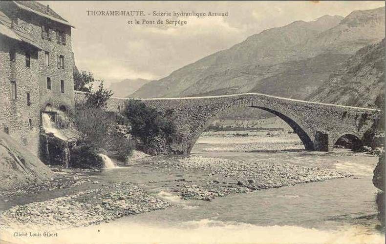 Le pont du moulin ou ancien pont d 39 ondres office de tourisme de colmars les alpes - Office de tourisme ondres ...