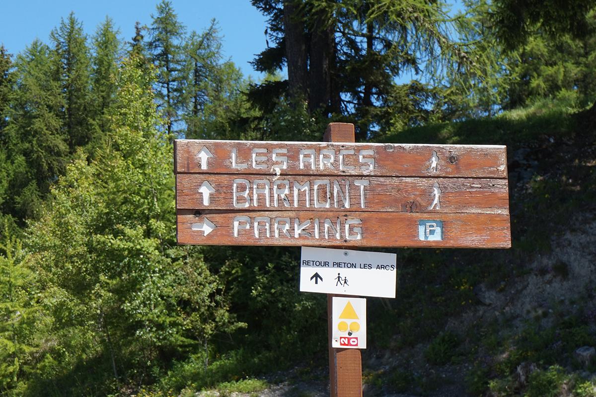 panneau accès chemin Barmont