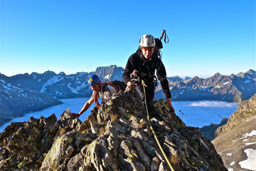Initiation à l'alpinisme dans le Valgaudemar - © A. Bompar