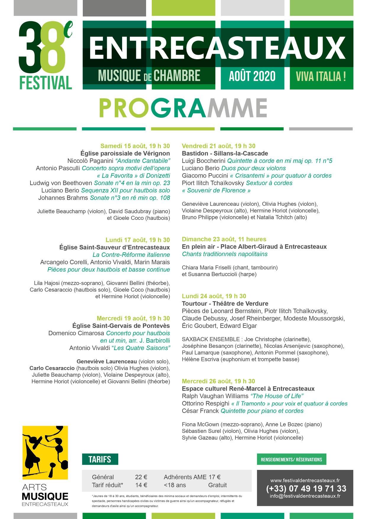 Festival de musique de chambre d'Entrecasteaux