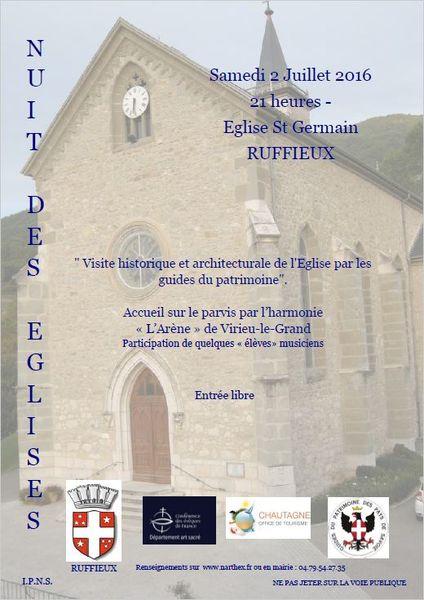 Visite église de Ruffieux Guides du Patrimoine Savoie Mont Blanc