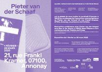 Vernissage de l'exposition de Pieter Van Der Schaaf intitulée :