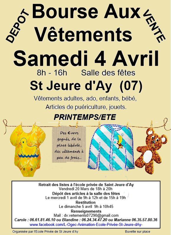 Annulée Bourse aux vêtements printemps été (Saint-Jeure-