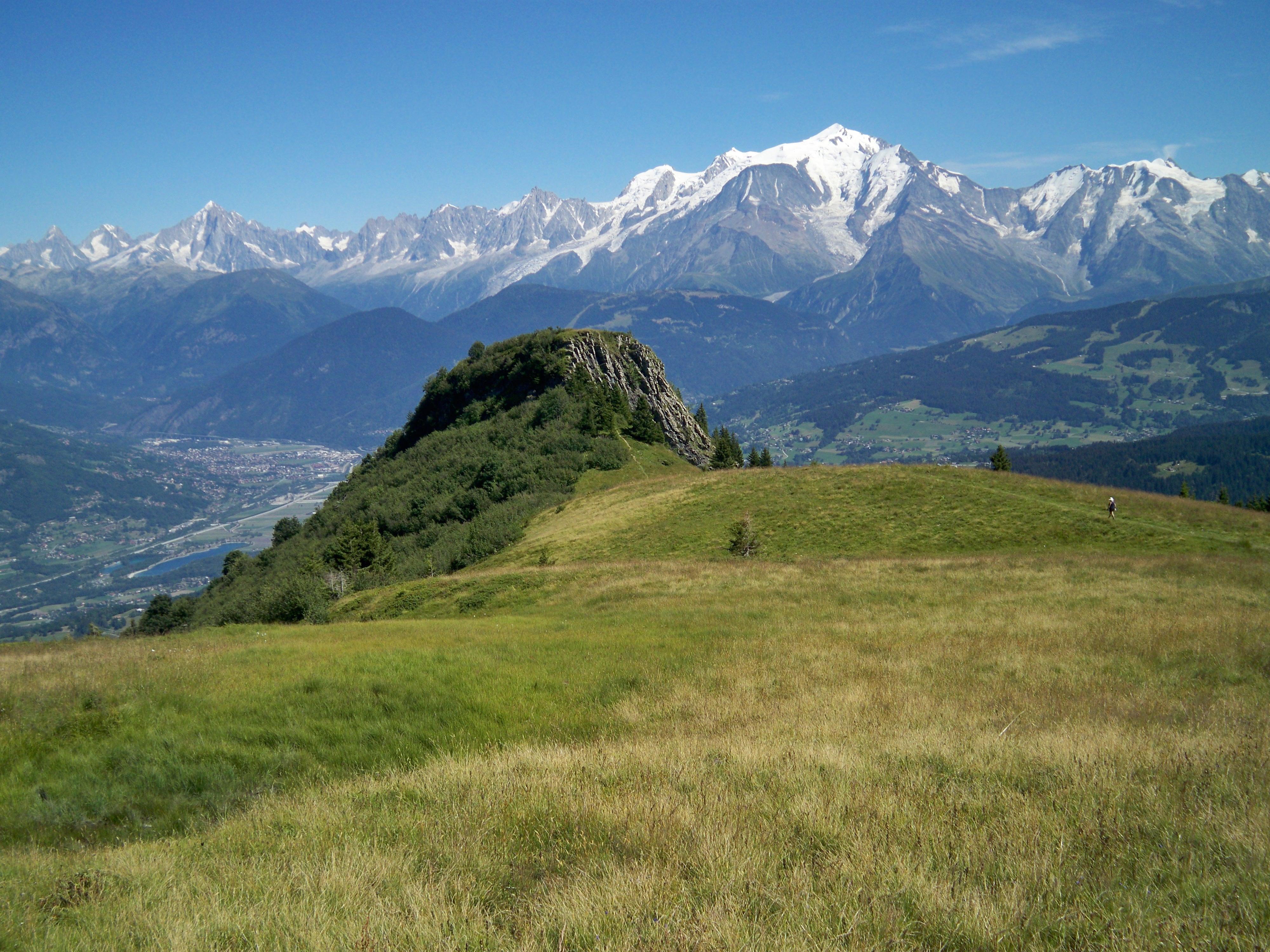 La tête du Planet et vue Mont-Blanc