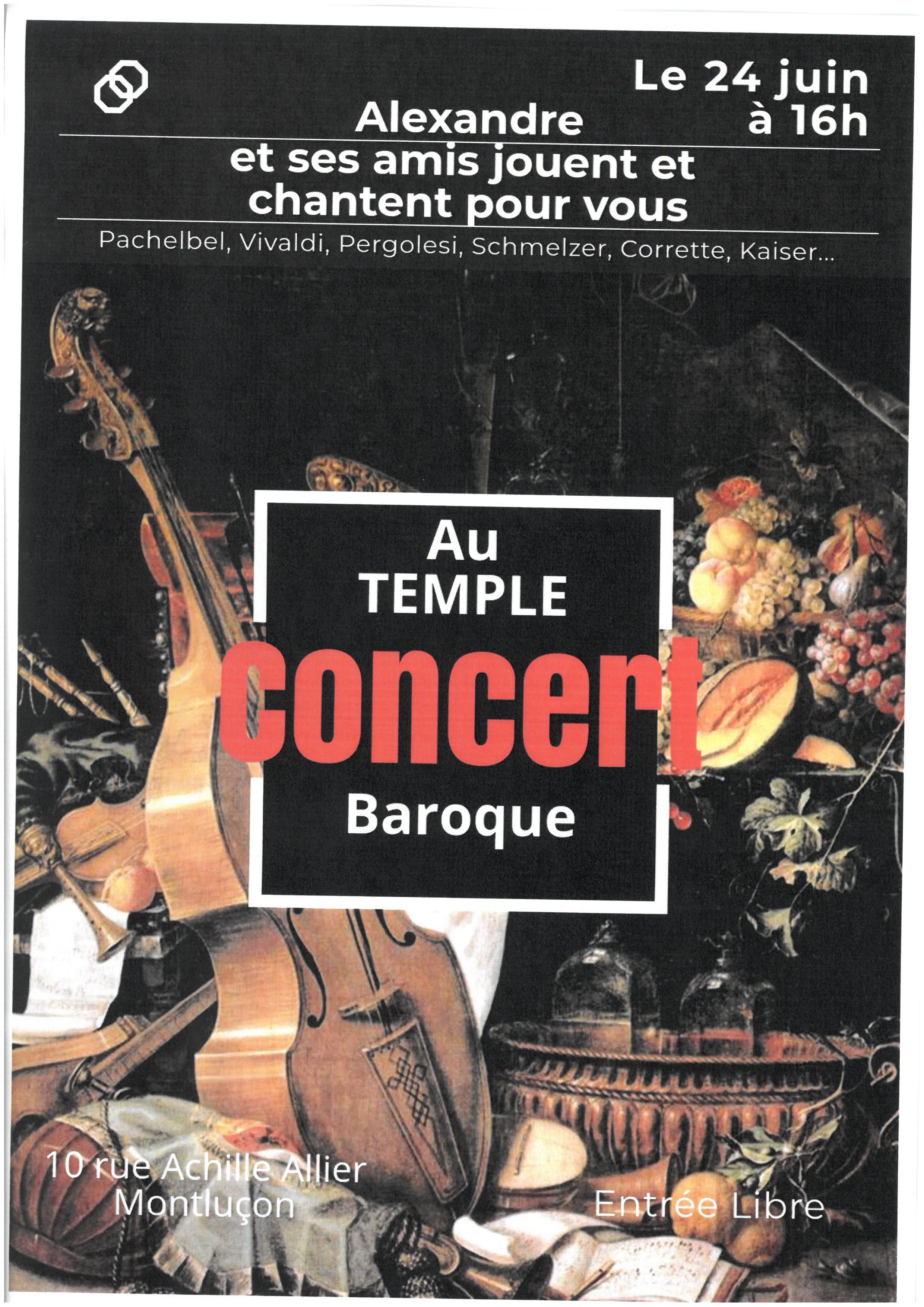 Concert au temple baroque
