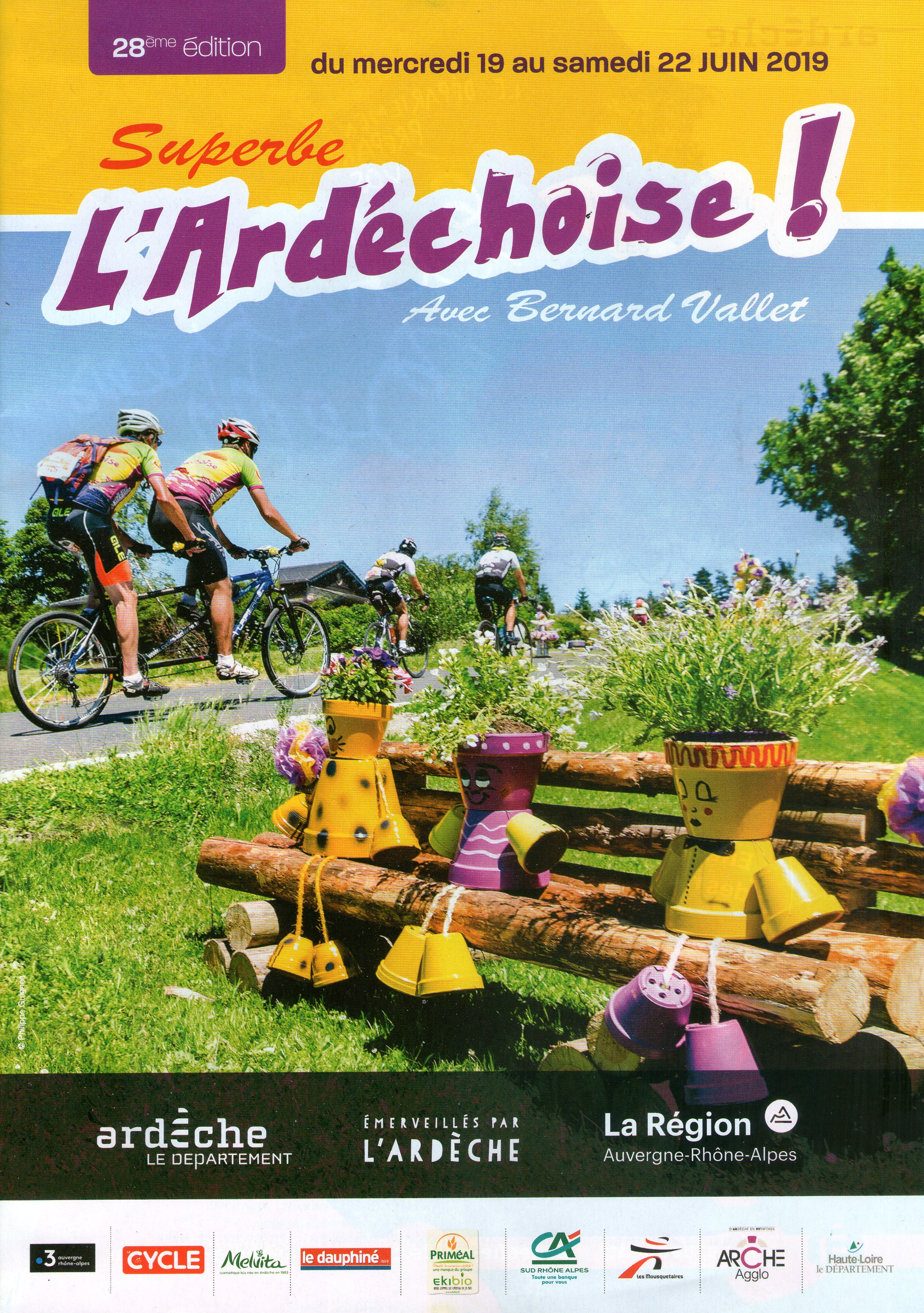 Events…Put it in your diary : Passage des participants de l'épreuve cyclo L'Ardéchoise