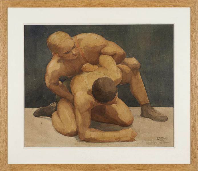 Edouard Fraisse Les lutteurs 1935