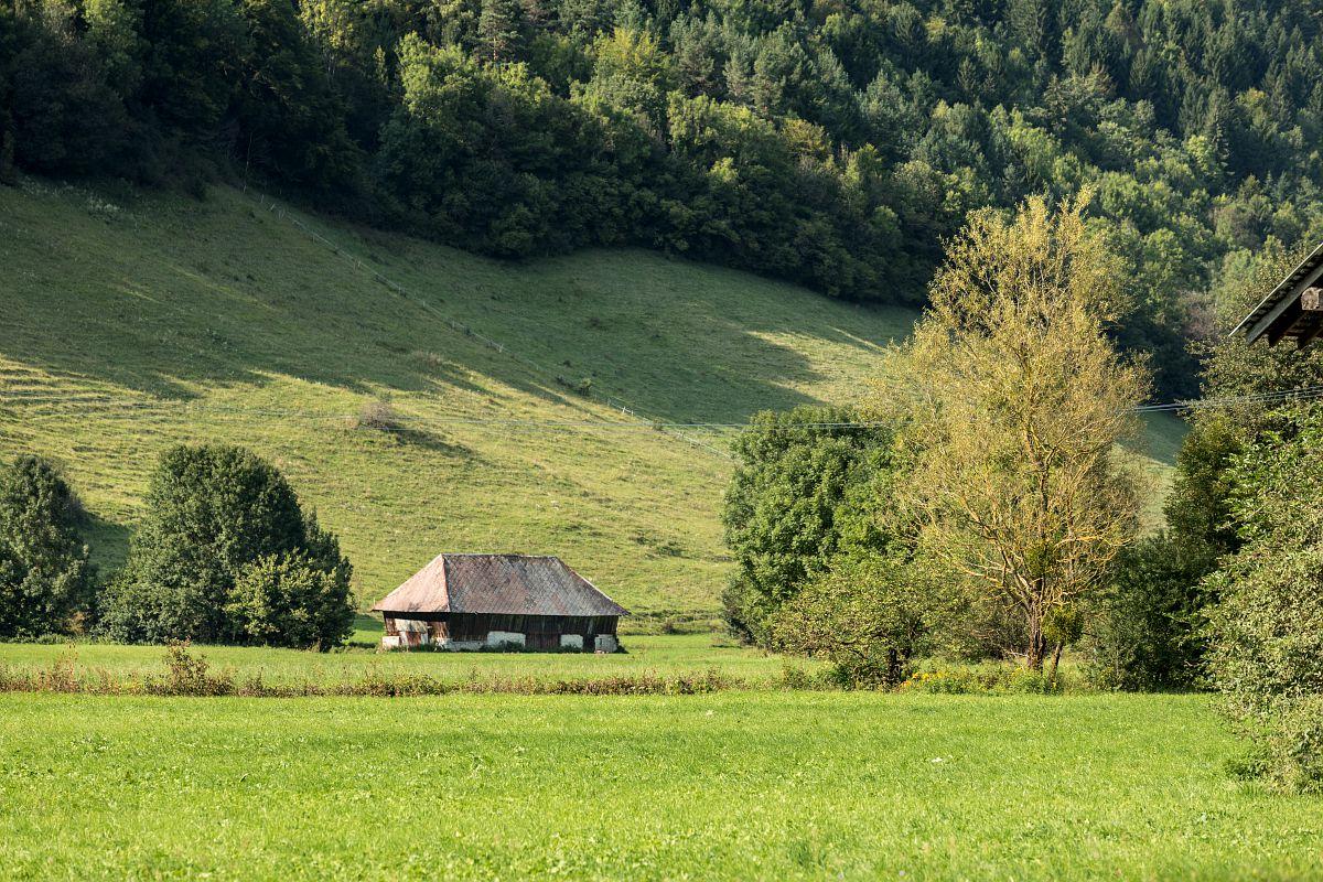 Paysage et village d'Ecole-en-Bauges