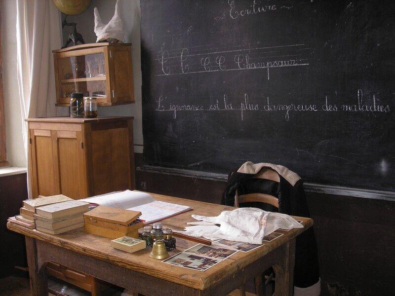 Ecole d'autrefois - © Claude Raynaud