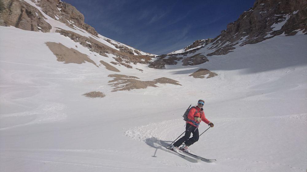 Combe chaude en ski de randonnée avec François Chaix, Dévoluy, Hautes-Alpes - © Francois Chaix / Véga Passion