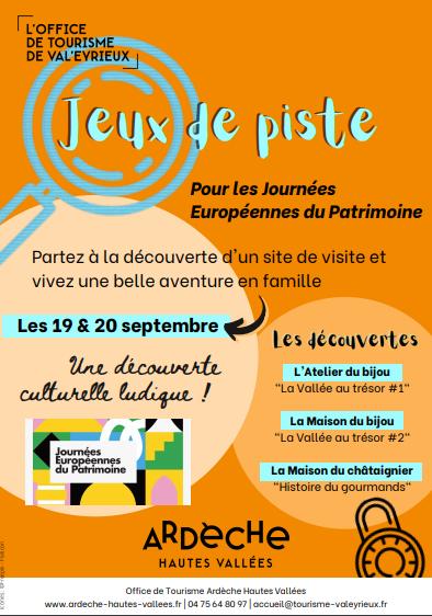 Journées Européennes du Patrimoine - Atelier du bijou - Jeu de piste