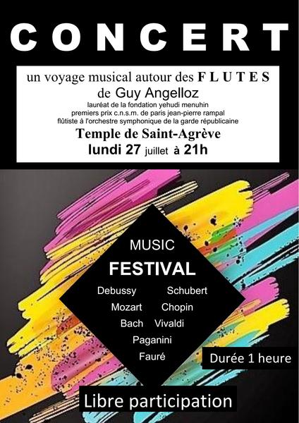 Guy Angelloz : un voyage musical autour des flûtes - Saint-Agrève