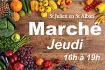 Marché hebdomadaire - Saint-Julien-en-Saint-Alban