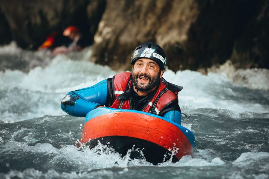 Sortie hydrospeed sur la rivière du Giffre