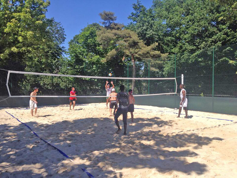 Beach-volley- Camping Saint-Disdille